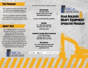 SICA Brochure Outside