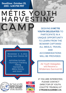 Metis Youth Harvesting Camp - Poster