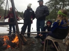 cooking bannock on a stick